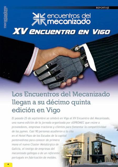 Cobertura de los XV Encuentros del Mecanizado de Vigo