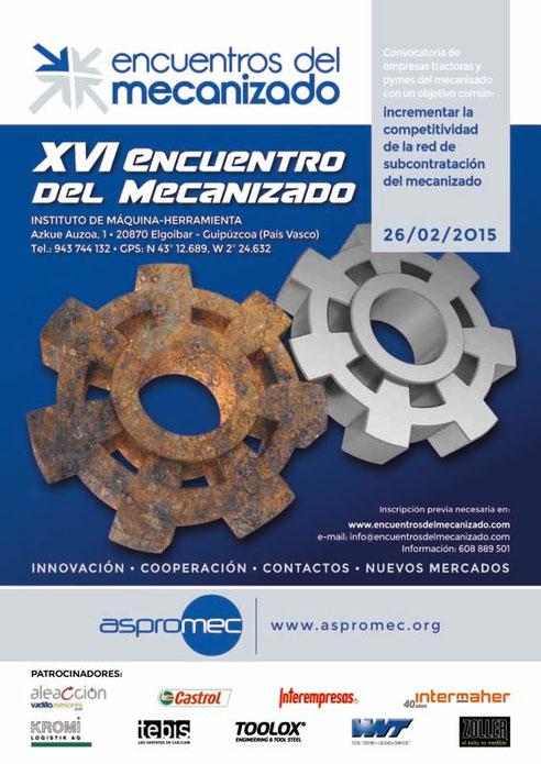 Elgoibar, primer destino de los Encuentros del Mecanizado en 2015