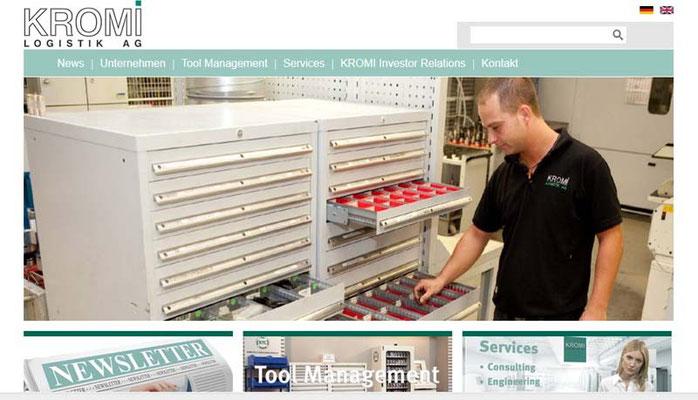 Kromi Logistik renueva su página web
