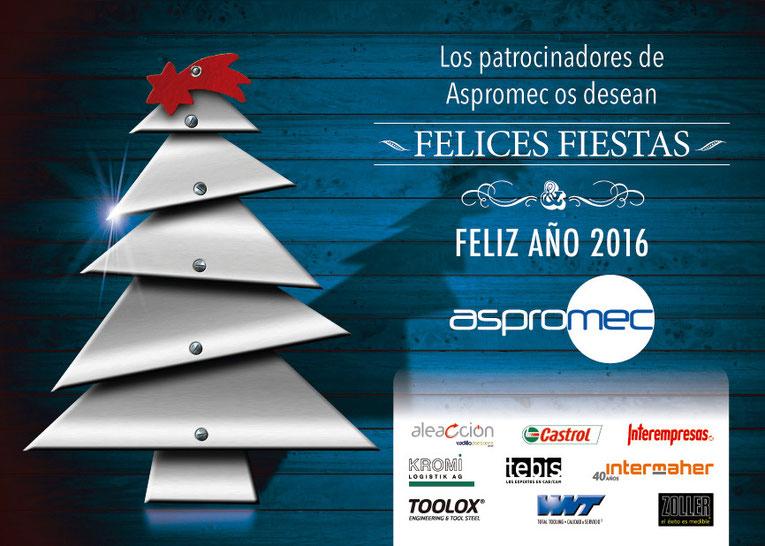 Los patrocinadores de Aspromec os desean Felices Fiestas