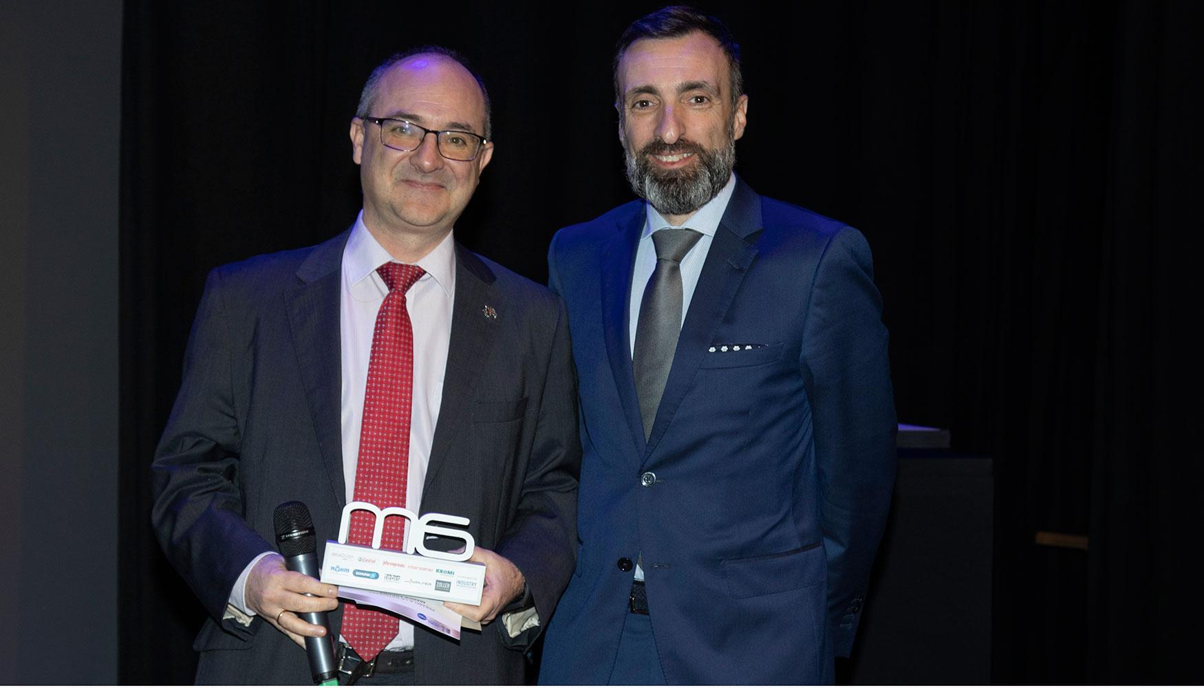 En esta categoría, fue David Sanz, vocal de ASPROMEC y Market Manager de Walter Tools Iberia quien hizo entrega del premio a Alfredo López Díez, Head of Advanced Engineering en ITP Aero.